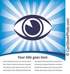Eye sunburst design. - Eye sunburst design with copy space...
