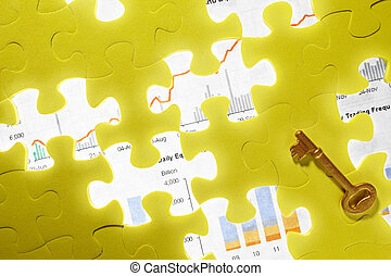Conceptual shot with missing puzzle piece
