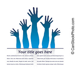 Happy hands design - Happy hands design with copy space...