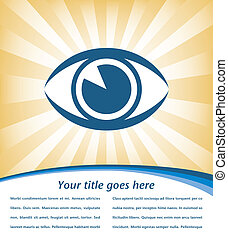 Eye sunburst design vector.