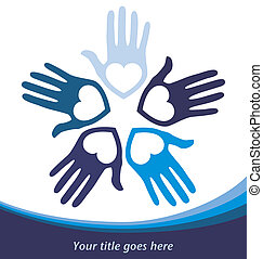 Circle of loving hands - Circle of loving hands with copy...