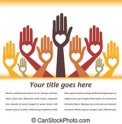 Helpful hands design.