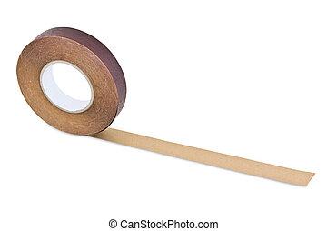 madera, cinta, aislado, blanco, Plano de fondo, Recorte,...