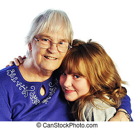 Grandmother and Grandchild - A Portrait of Grandmother and...