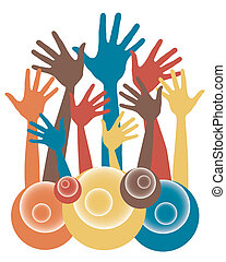 Fun hand design - Fun hand design vector