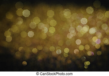 Gold lights on black background