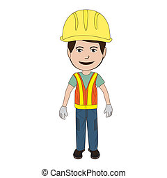 construction-worker - illustration of a construction worker...