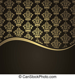 Vector brown and gold background