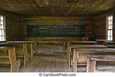 One room rustic school house - A rustic one room school...