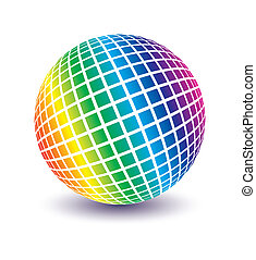 Multicolored globe vector - Multicolored globe vector design...