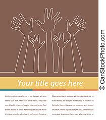 Line illustration of hands.
