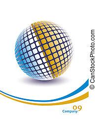 Three dimensional digital globe. - Colorful three...