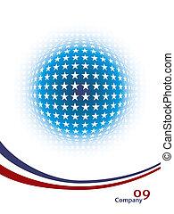 Patriotic star sphere design.