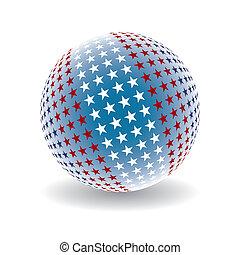 Patriotic star ball.