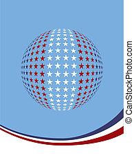 Patriotic star globe design.
