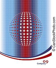 Patriotic globe design.