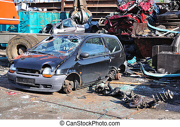 Scrapyard - Thousands of old cars will be destroyed at the...