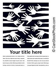 Striking hand pattern design. - Striking hand pattern design...