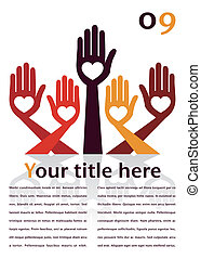 Hand design with text space - Hand design with text space...