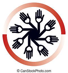 Loving circular hands