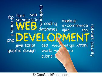 Web Development - Hand pointing at a Web Development...