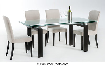dinning table  - isolated dinning table set