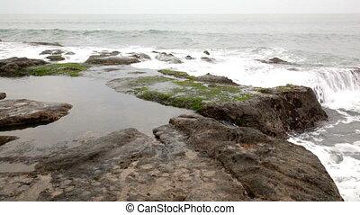 Sea landscape in cloudy weather