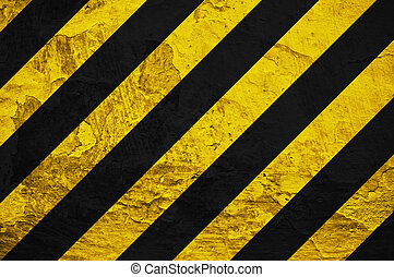 Under construction sign - Black and yellow under...