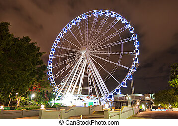 Brisbane City - Southbank At Night - Queensland - Australia...
