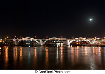 Brisbane City - William Jolly Bridge At Night - Queensland -...