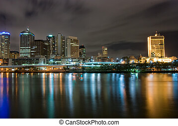 Brisbane City At Night - Queensland - Australia - Brisbane...