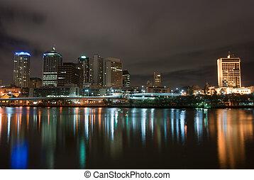Brisbane City At Night - Queensland - Australia - Brisbane...