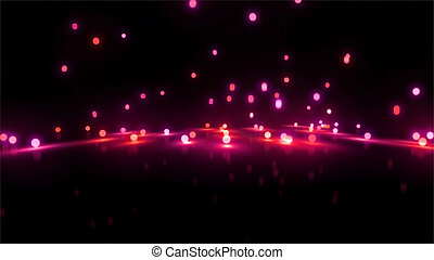 red bouncing light balls background