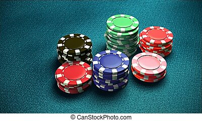 Casino 6 of chips blue table 3