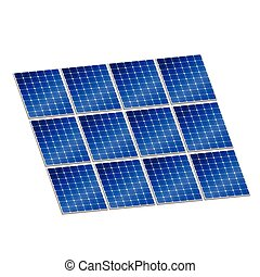 solar panel in blue color vector illustration