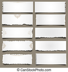 Ten notes paper Vector eps 10