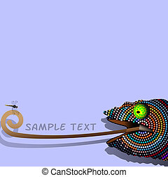 Chameleon  - Vector background with decorative Chameleon