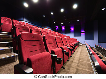 Movie theater seats - Rows of movie theater seats