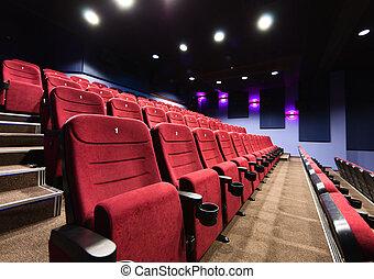 Película, teatro, Asientos