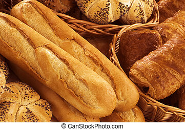 Fresh bread and pastry  - Variety of fresh bread and pastry