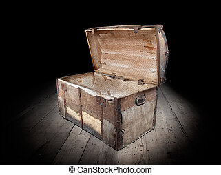 Empty treasure chest - Treasure chest is open and empty.