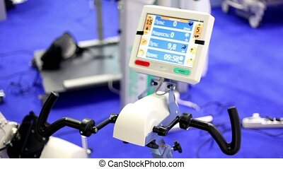 Medical training simulator works on exhibition, display show...