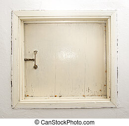 blanc, bois, fenêtre