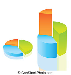 circular bar graph isolated on white background, vector...