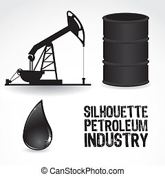 icons in the oil industry, contains gallon, pump and drop of...