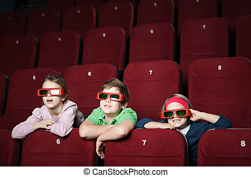 Friends in the movie theater
