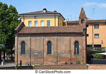 Church of St. Giuliano. Ferrara. Emilia-Romagna. Italy.