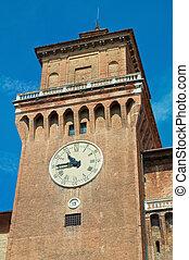 Estense Castle. Ferrara. Emilia-Romagna. Italy.