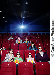 Projector light in the movie theater