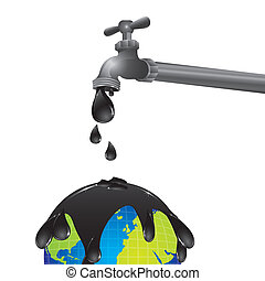 conceptual design of a faucet dripping